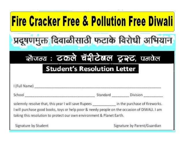 Fire cracker & Pollution Free Diwali
