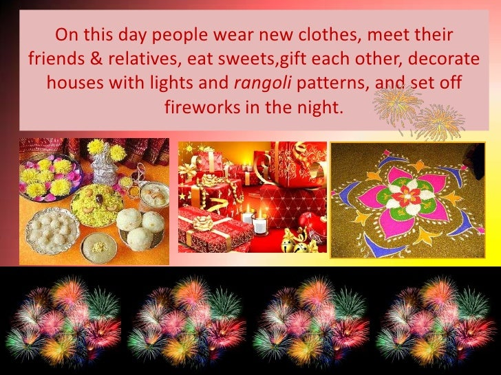 PowerPoint Template Displaying a Diwali Theme with Two Hands Painted with Various Colors