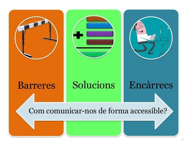 Barreres Solucions EncàrrecsCom comunicar-nos de forma accessible?1