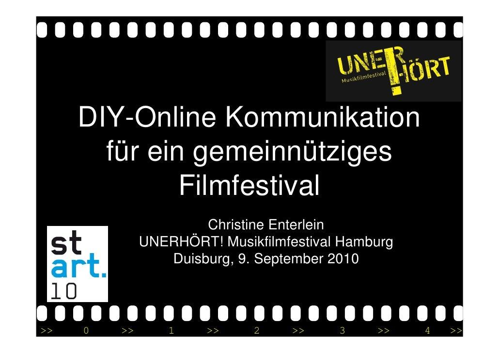 stART10 Workshop DIY-Online Kommunikation für ein gemeinnütziges Filmfestival - Christine Enterlein