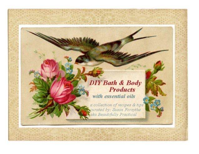 Diy bath & body products