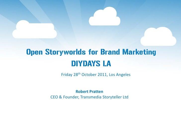 Open Storyworlds for Brand Marketing