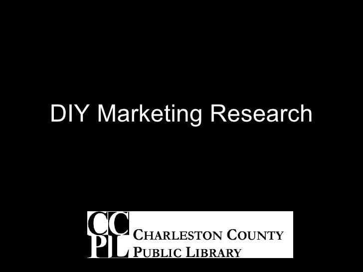 DIY Marketing Research