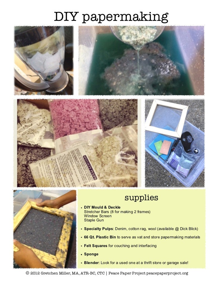 DIY Papermaking How-to Steps