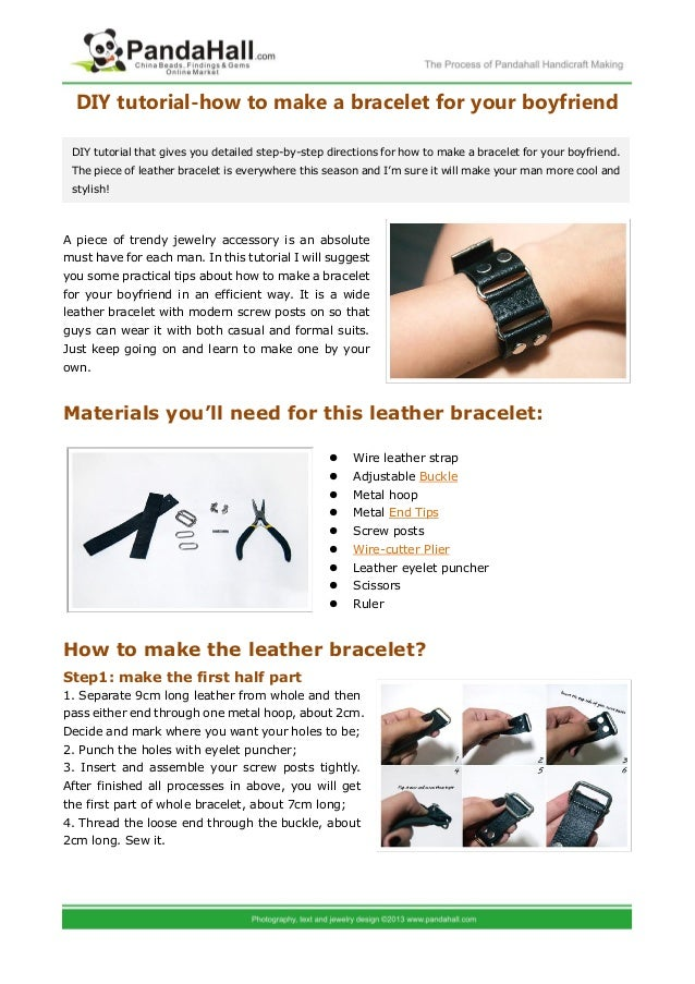 Diy tutorial how to make a bracelet for your boyfriend for What to make your boyfriend