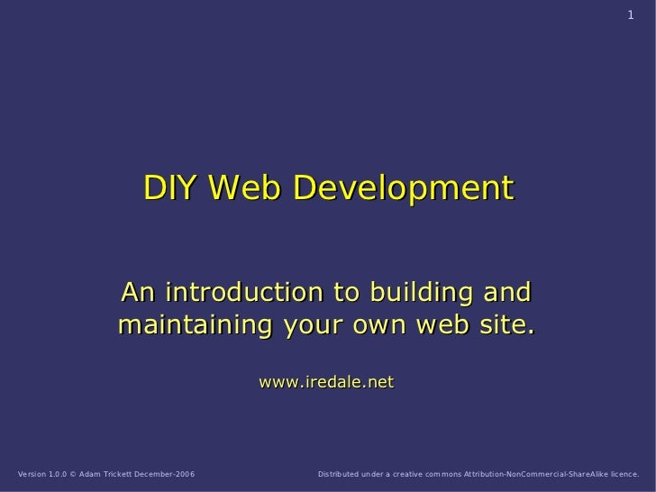 1                                   DIY Web Development                           An introduction to building and         ...