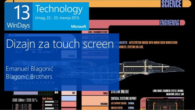 Dizajn za touch screenEmanuel BlagonićBlagonić Brothers
