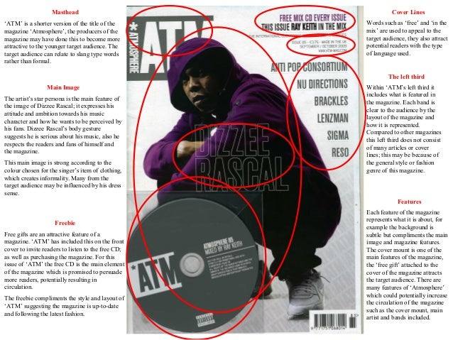 Dizzee rascal ATM front cover analysis