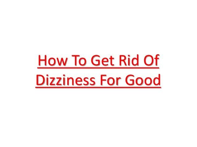 dizziness remedies