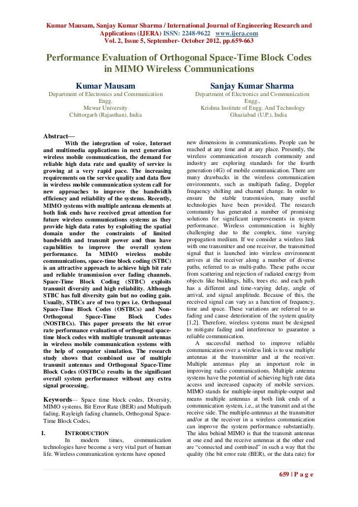 Kumar Mausam, Sanjay Kumar Sharma / International Journal of Engineering Research and                    Applications (IJE...