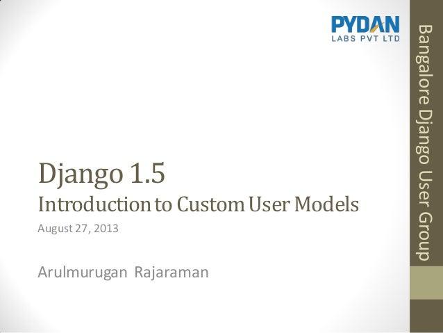 Django 1.5: Introduction to Custom User Models