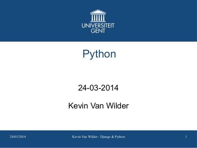 Django and Python Introduction @ UGent