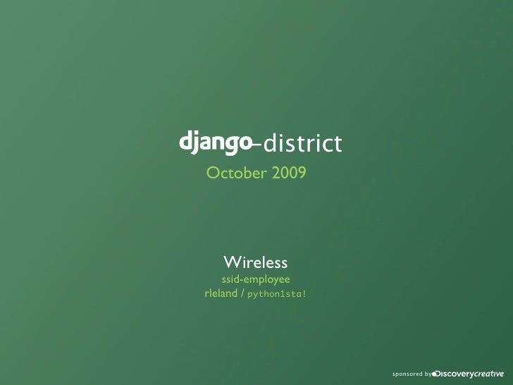-district October 2009                      sponsored by