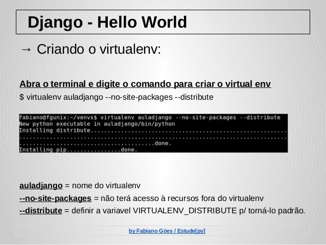 Django - Hello World
