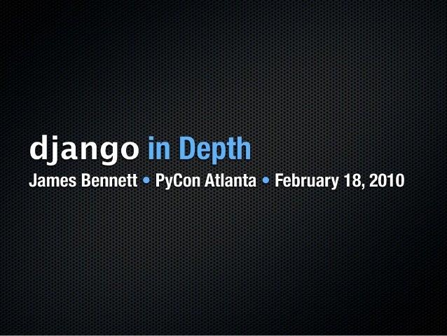 Django In Depth