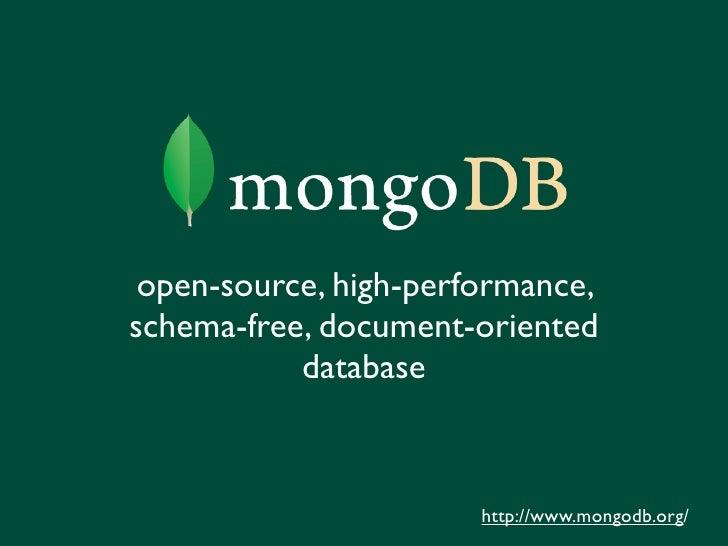 MongoDB hearts Django? (Django NYC)