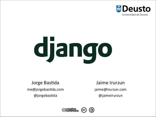 Desarrollo web ágil con Python y Django