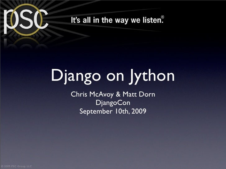 DjangoCon 2009: Django On Jython