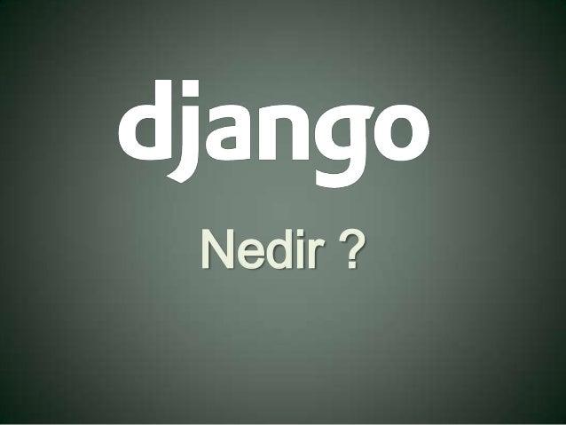 Django nedir