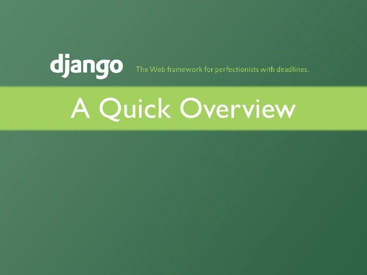 Django Overview