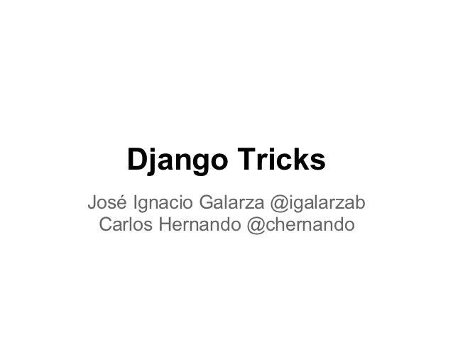 Django tricks (2)