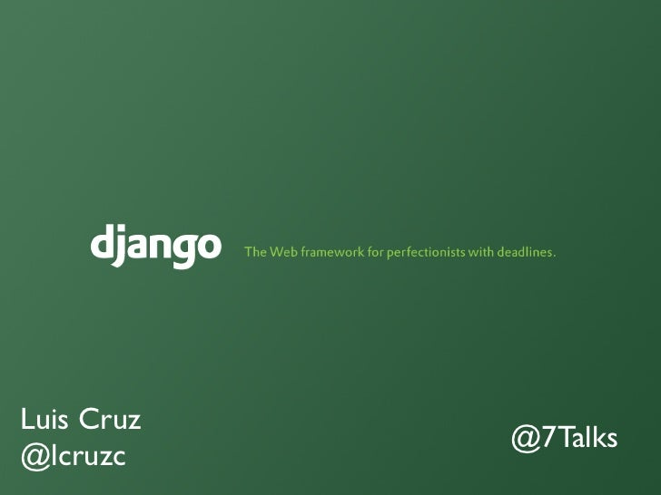 Introducción a DJango