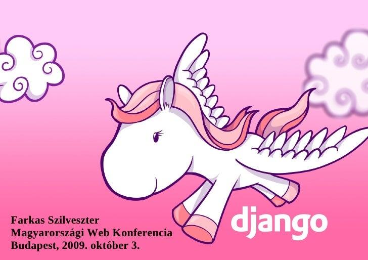 Django (Web Konferencia 2009)