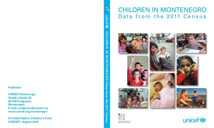 Children in Montenegro - Data from the 2011 Census