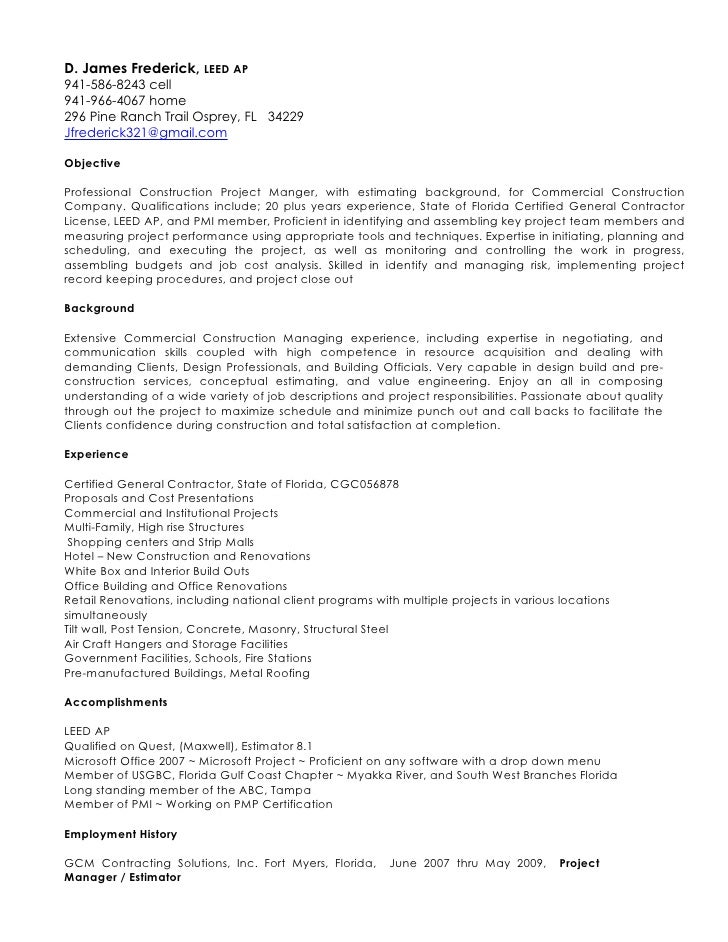 djf electronic resume 11 25 09. professional resume template ...