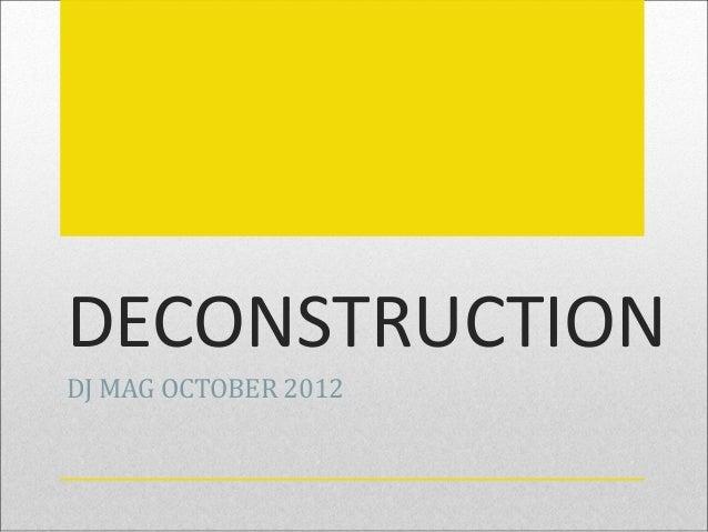 DECONSTRUCTIONDJ MAG OCTOBER 2012