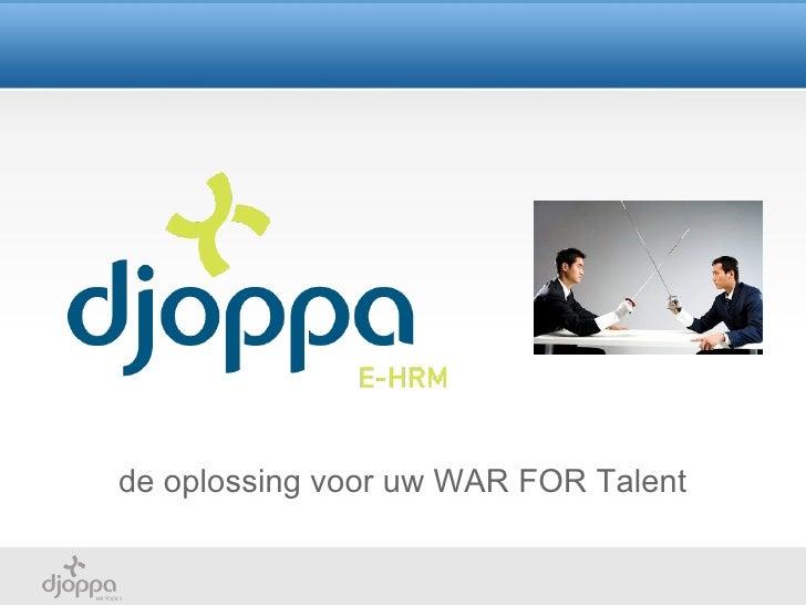Djoppa  war for talent solutions