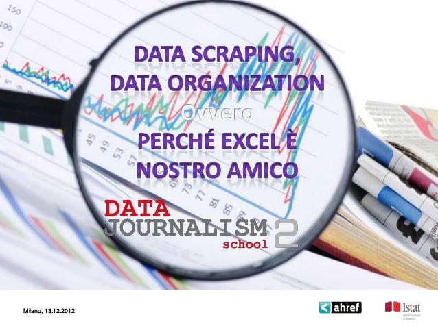 Data Scraping, Data Organization