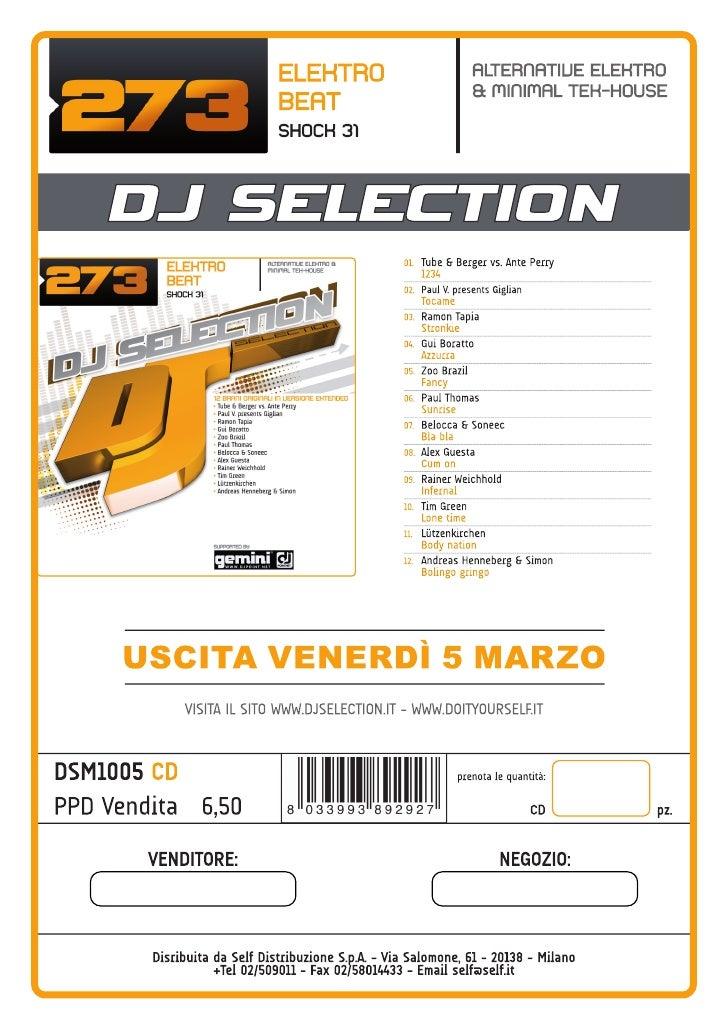 DJ Selection 273 > Alternative Elektro & Minimal Tek-House