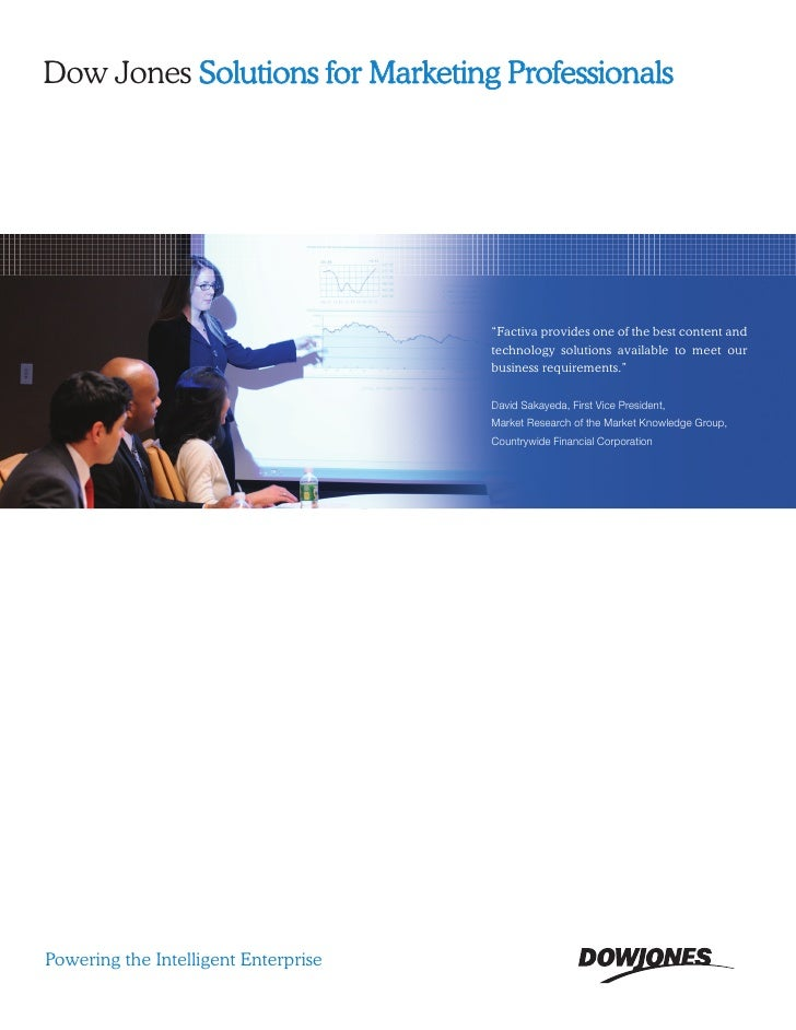 Marketing Brochure - DJ Solutionsfor Marketing Professionals
