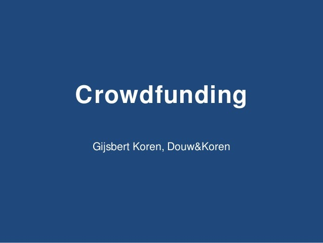 Crowdfunding workshop - To the next level - Amersfoort
