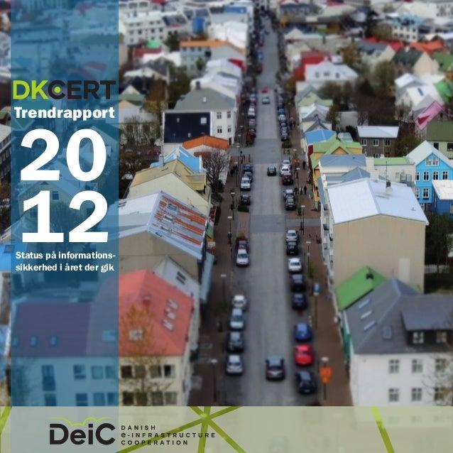DK Cert Trend Rapport 2012
