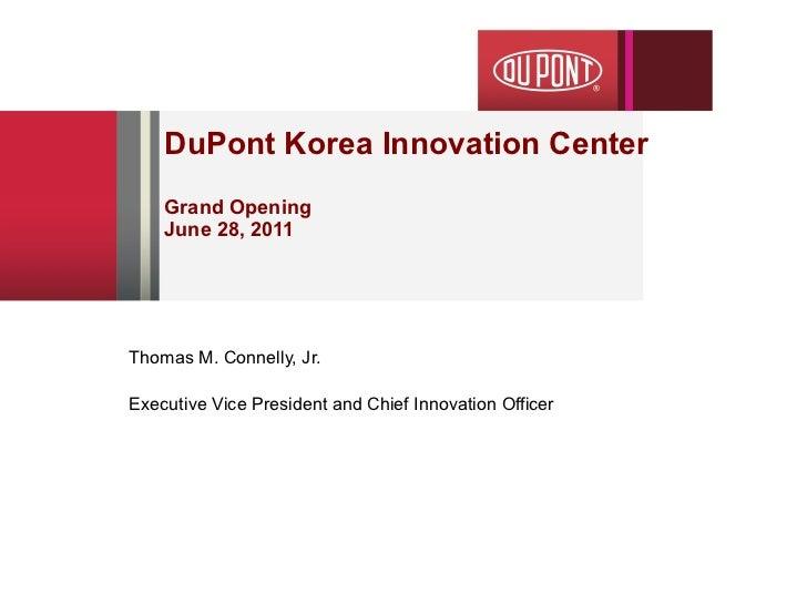 DuPont Korea Innovation Center Grand Opening