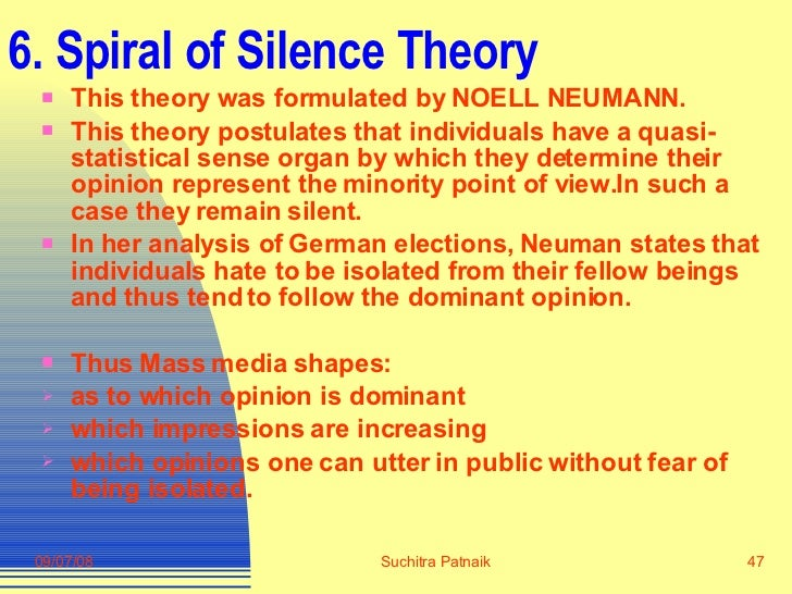 spiral of silence research paper