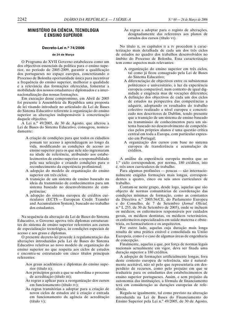 2242                        DIÁRIO DA REPÚBLICA — I SÉRIE-A                                 N.o 60 — 24 de Março de 2006  ...