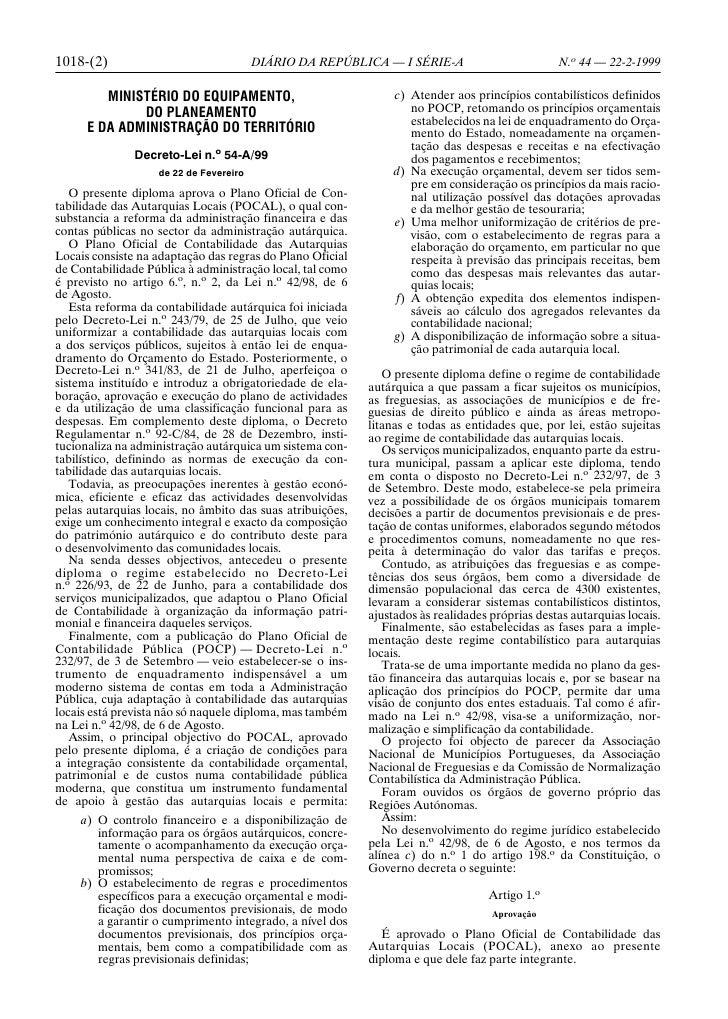 1018-(2)                                DIÁRIO DA REPÚBLICA — I SÉRIE-A                         N.o 44 — 22-2-1999        ...