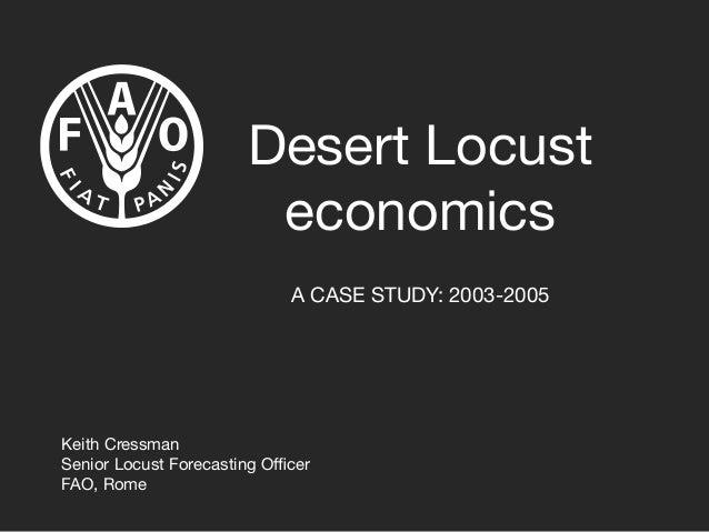 Desert Locust economics: 2003-05 case study