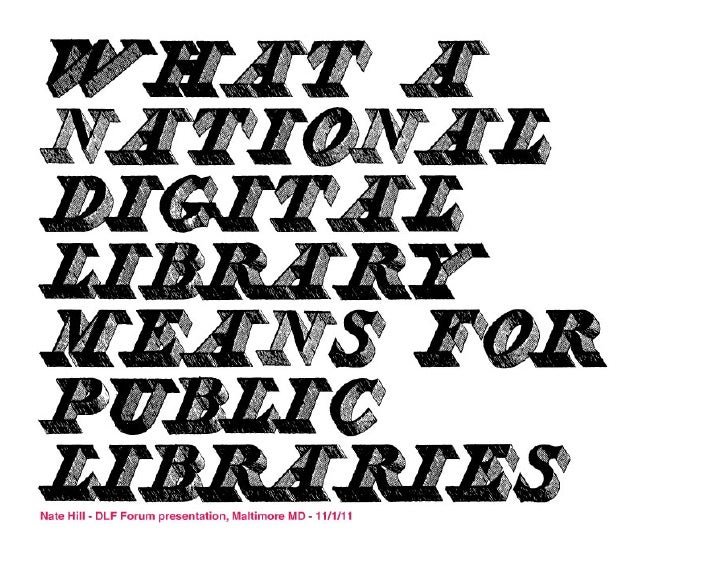 What a National Digital Library means for Public Libraries