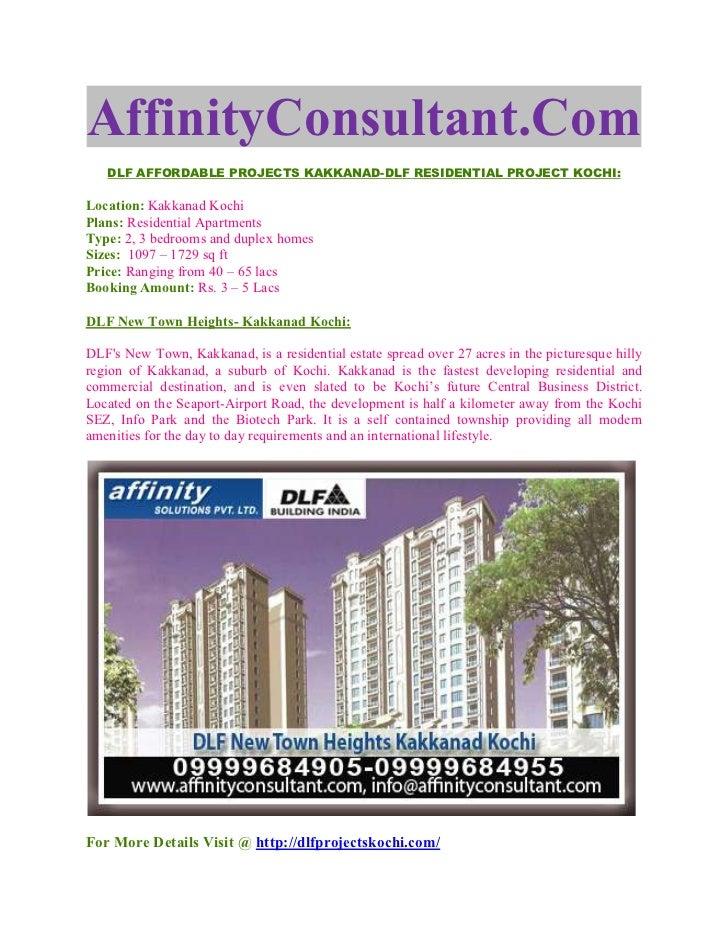 DLF India Kakkanad @ Residential Property Kochi @ 09999684905
