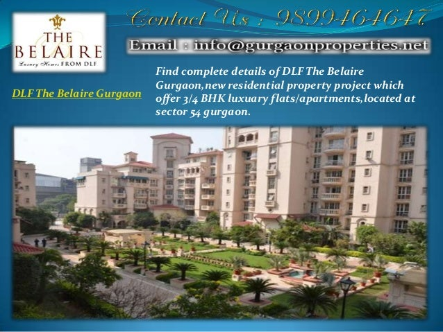 dlf the belaire gurgaon