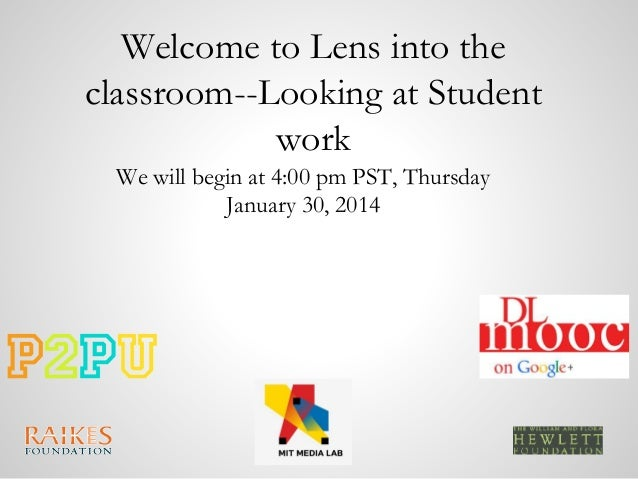 """DLMOOC """"Lens into the Classroom"""" tuning protocol - Week 2"""