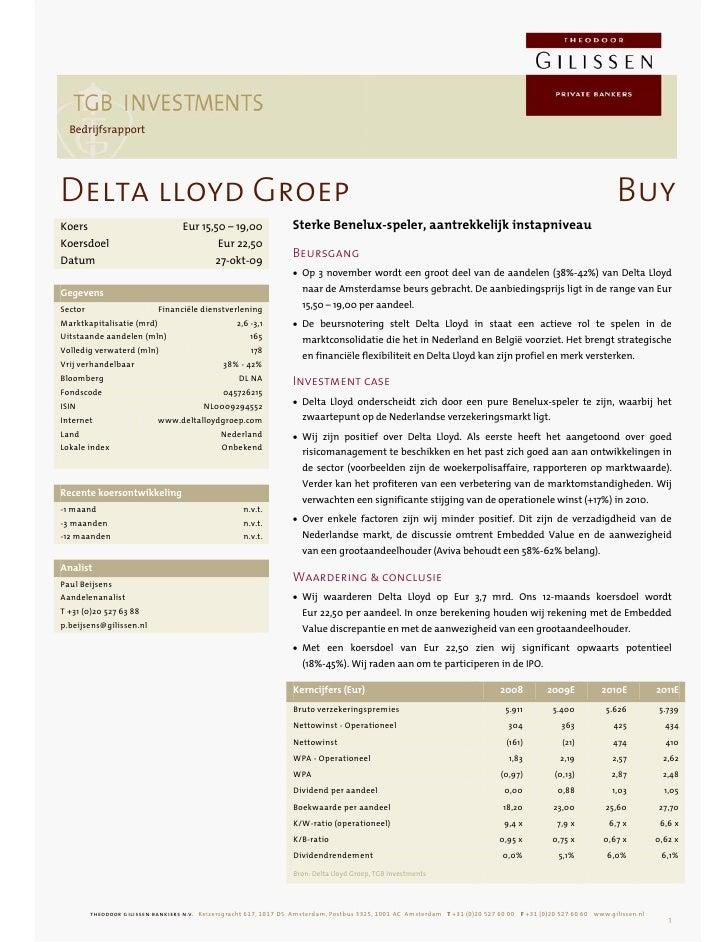 research   Bedrijfsrapport     Delta lloyd Groep                                                                          ...