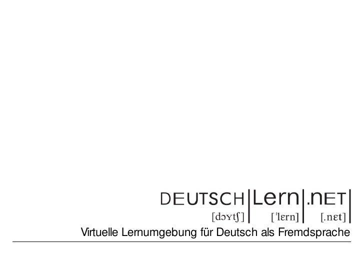 Virtuelle Lernumgebung für Deutsch als Fremdsprache