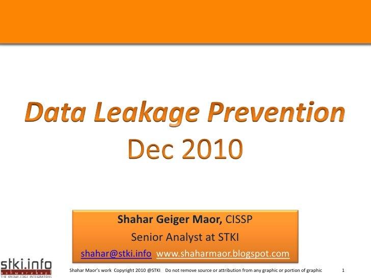 DLP Trends -Dec 2010