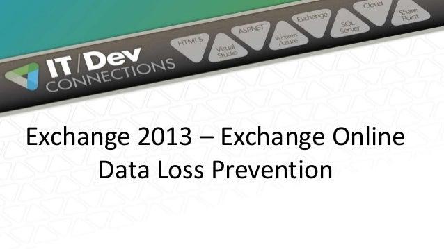 Exchange 2013 – Exchange Online Data Loss Prevention