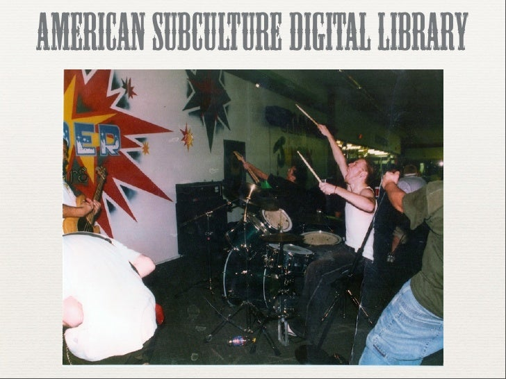 american subculture digital library   presentation